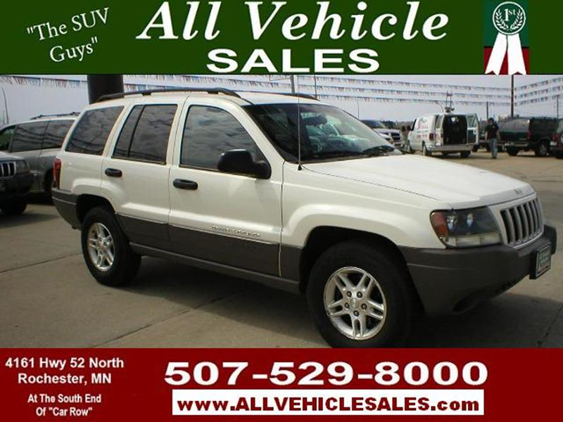 2004 Jeep Grand Cherokee For Sale At ALL VEHICLE SALES INC In Rochester MN