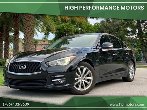 2014 Infiniti Q50 for sale at HIGH PERFORMANCE MOTORS in Hollywood FL