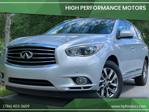 2013 Infiniti JX35 for sale at HIGH PERFORMANCE MOTORS in Hollywood FL