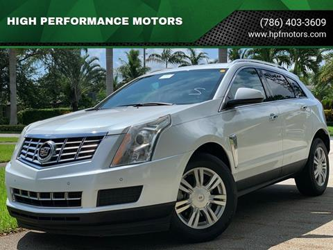 2015 Cadillac SRX for sale at HIGH PERFORMANCE MOTORS in Hollywood FL