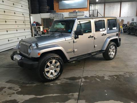 2015 Jeep Wrangler Unlimited for sale at T James Motorsports in Gibsonia PA