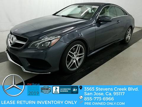 Mercedes San Jose >> Used Mercedes Benz E Class For Sale In San Jose Ca Carsforsale Com
