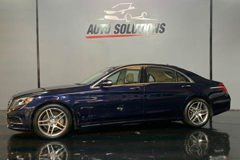 2014 Mercedes-Benz S-Class S 550 for sale at Auto Solutions of MS in Ridgeland MS