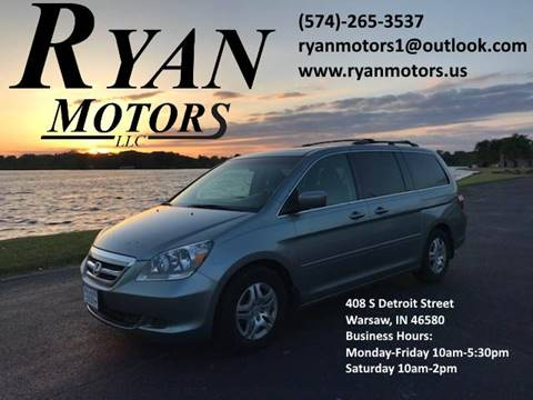 2007 Honda Odyssey for sale at Ryan Motors LLC in Warsaw IN