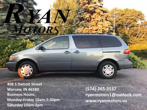 1999 Toyota Sienna for sale at Ryan Motors LLC in Warsaw IN
