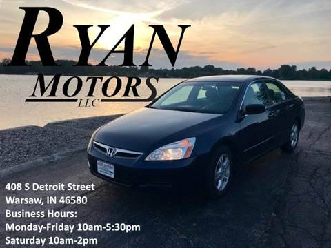 2006 Honda Accord for sale at Ryan Motors LLC in Warsaw IN