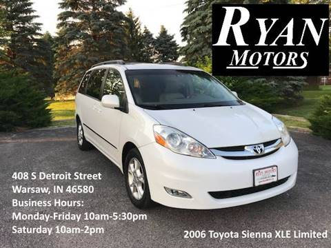 2006 Toyota Sienna for sale at Ryan Motors LLC in Warsaw IN