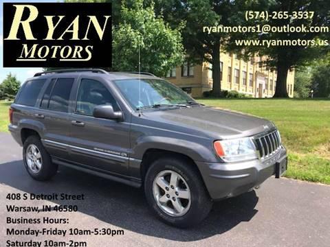 2004 Jeep Grand Cherokee for sale at Ryan Motors LLC in Warsaw IN