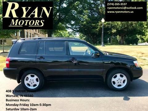 2004 Toyota Highlander for sale at Ryan Motors LLC in Warsaw IN