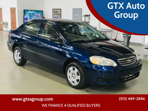 2003 Toyota Corolla for sale at GTX Auto Group in West Chester OH