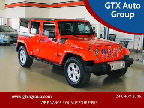 2015 Jeep Wrangler Unlimited for sale at GTX Auto Group in West Chester OH