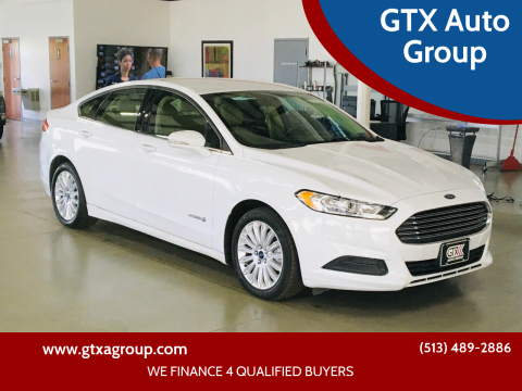 2016 Ford Fusion Hybrid for sale at GTX Auto Group in West Chester OH
