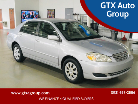 2006 Toyota Corolla for sale at GTX Auto Group in West Chester OH