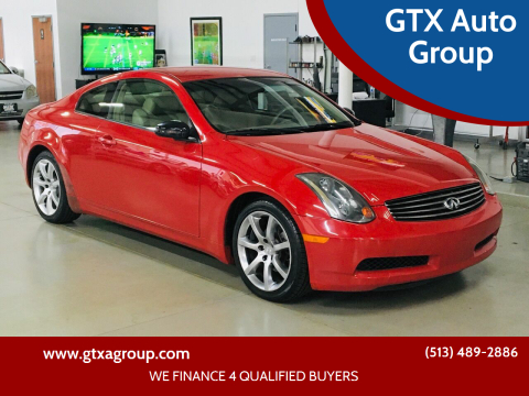 2004 Infiniti G35 for sale at GTX Auto Group in West Chester OH