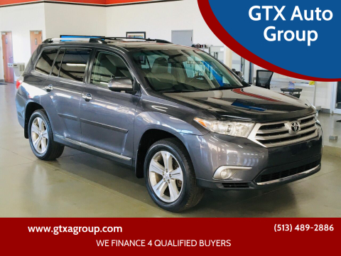 2012 Toyota Highlander for sale at GTX Auto Group in West Chester OH