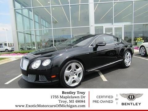 2013 Bentley Continental for sale in Troy, MI