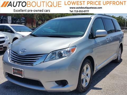 2015 Toyota Sienna for sale in Houston, TX