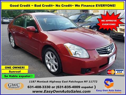 2008 Nissan Maxima For Sale At Easy Own Auto Sales In East Patchogue NY