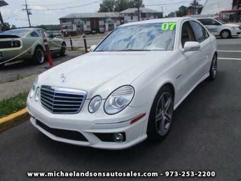 used 2007 mercedes benz e class for sale in new jersey. Black Bedroom Furniture Sets. Home Design Ideas