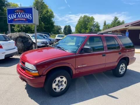 2002 Chevrolet Blazer for sale at Sam Adams Motors in Cedar Springs MI