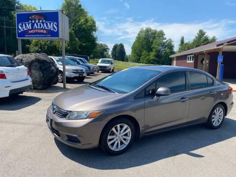 2012 Honda Civic for sale at Sam Adams Motors in Cedar Springs MI