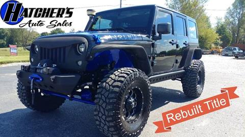 2016 Jeep Wrangler Unlimited for sale at Hatcher's Auto Sales, LLC in Campbellsville KY