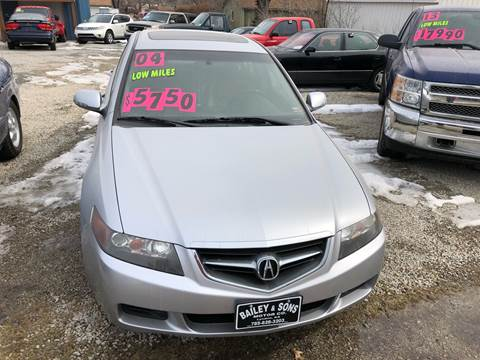 2004 Acura TSX for sale at Bailey & Sons Motor Co in Lyndon KS
