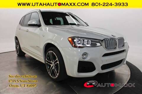 2016 BMW X3 for sale at AUTOMAXX MAIN in Orem UT