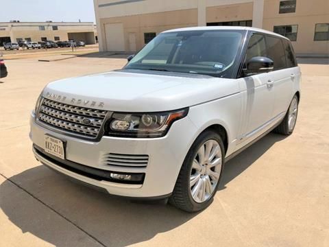 2015 Land Rover Range Rover for sale in Dallas, TX