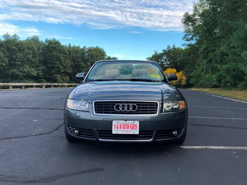 Audi A T In Maynard MA S D Auto Sales Inc - Audi a4 for sale