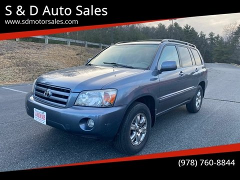 2005 Toyota Highlander for sale at S & D Auto Sales in Maynard MA
