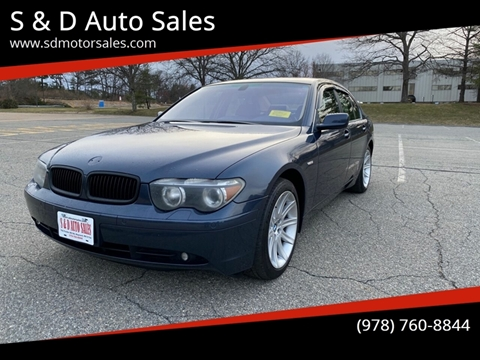 2002 BMW 7 Series 745i for sale at S & D Auto Sales in Maynard MA