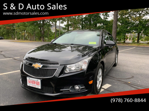 2013 Chevrolet Cruze for sale at S & D Auto Sales in Maynard MA