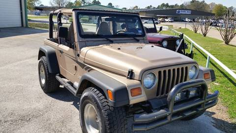 1999 Jeep Wrangler for sale at Haigler Motors Inc in Tyler TX
