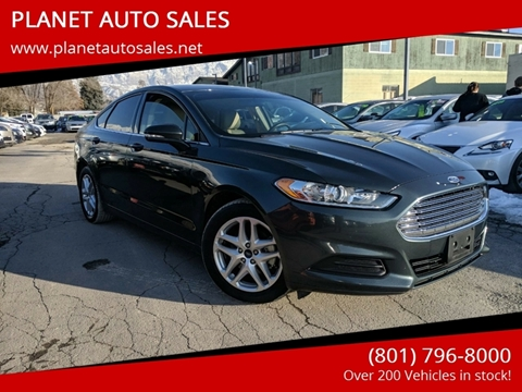2015 Ford Fusion for sale at PLANET AUTO SALES in Lindon UT