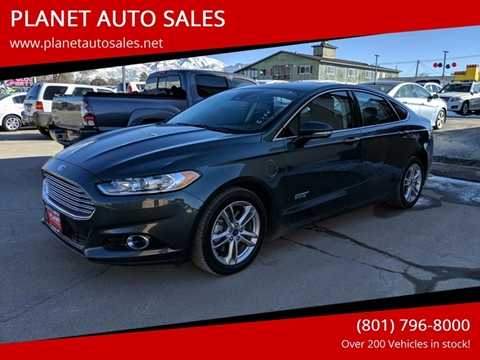 2015 Ford Fusion Energi for sale at PLANET AUTO SALES- Orem in Orem UT