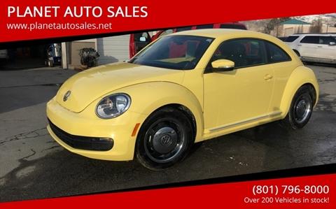 2012 Volkswagen Beetle for sale at PLANET AUTO SALES- Orem in Orem UT