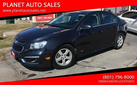 2016 Chevrolet Cruze Limited for sale at PLANET AUTO SALES in Lindon UT