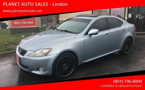 2007 Lexus IS 250 for sale at PLANET AUTO SALES in Lindon UT