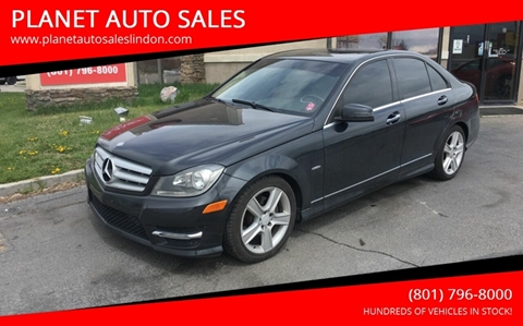 2012 Mercedes-Benz C-Class for sale at PLANET AUTO SALES in Lindon UT