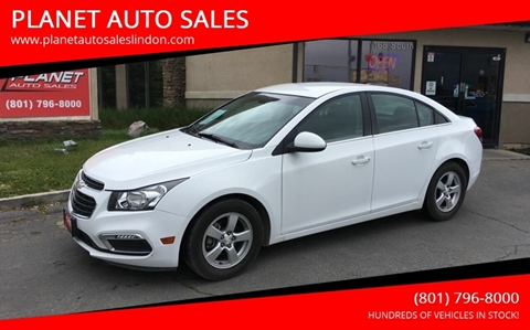 2015 Chevrolet Cruze for sale at PLANET AUTO SALES in Lindon UT