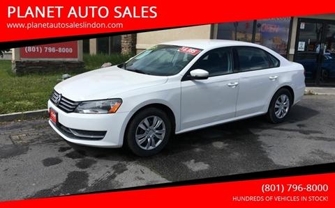 2013 Volkswagen Passat for sale at PLANET AUTO SALES in Lindon UT