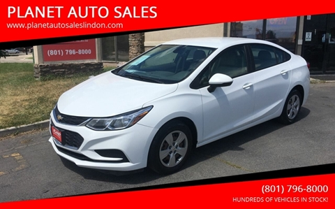 2016 Chevrolet Cruze for sale at PLANET AUTO SALES in Lindon UT