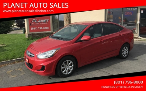2013 Hyundai Accent for sale at PLANET AUTO SALES in Lindon UT