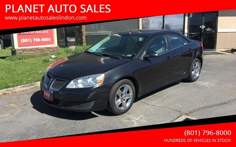 2010 Pontiac G6 for sale at PLANET AUTO SALES in Lindon UT