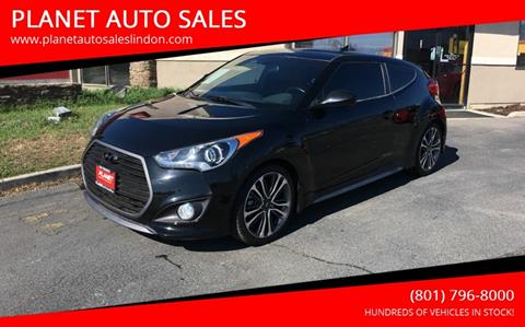2016 Hyundai Veloster Turbo for sale at PLANET AUTO SALES in Lindon UT