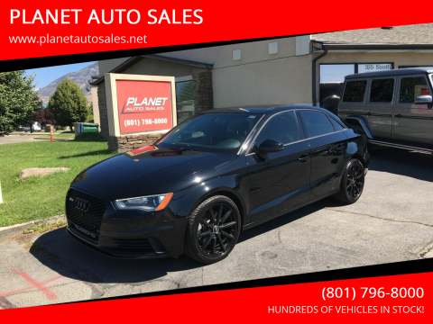 2016 Audi A3 for sale at PLANET AUTO SALES in Lindon UT