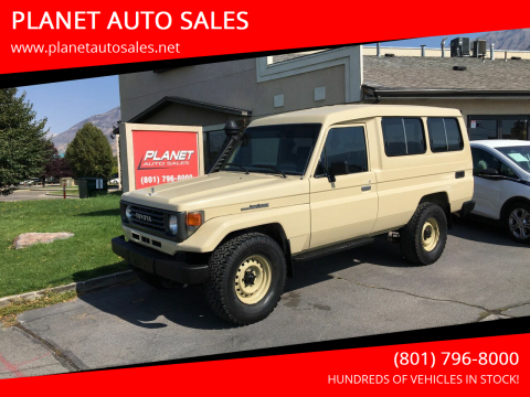1991 Toyota Land Cruiser for sale at PLANET AUTO SALES in Lindon UT