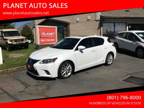 2014 Lexus CT 200h for sale at PLANET AUTO SALES in Lindon UT