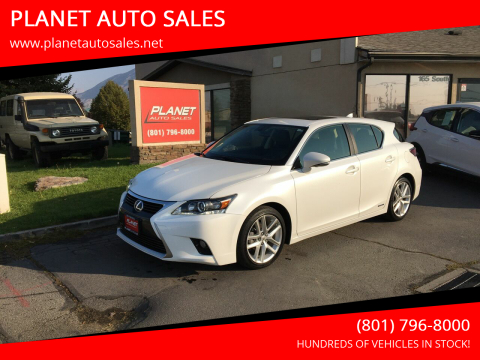2015 Lexus CT 200h for sale at PLANET AUTO SALES in Lindon UT
